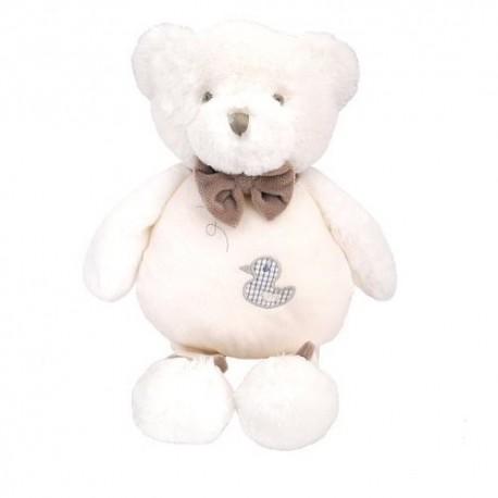 Przytulanka dla niemowląt Miś Berdi biały Beppe