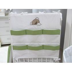 Przybornik do łóżeczka Savea - misie zielone