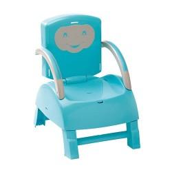 Krzesełko do karmienia - niebieski