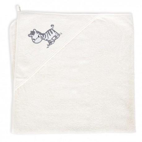 Ręcznik z kapturkiem Zebra Creamy Ceba