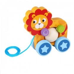 Lew z kulką do ciągnięcia Tooky Toy
