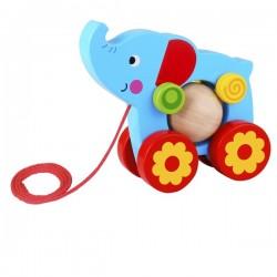 Słoń z kulką do ciągnięcia Tooky Toy
