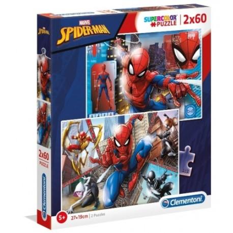 Puzzle dla dzieci Spider-Man 2x60 Clementoni
