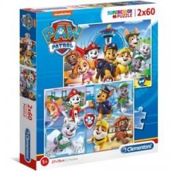 Puzzle dla dzieci Psi Patrol 2x60 Clementoni