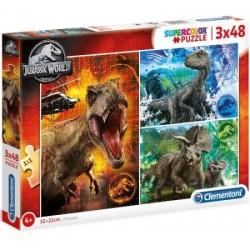 Puzzle Jurassic World 4+ 3x48 Clementoni