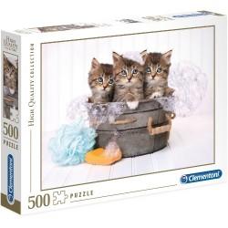Puzzle Kotki w kąpieli Clementoni