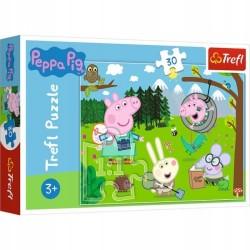Puzzle Świnka Peppa Leśna wyprawa Trefl