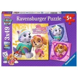 Puzzle Psi Patrol Skye & Everest 3x49 Ravensburger