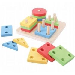 Sorter geometryczny drewniany Wooden Toys