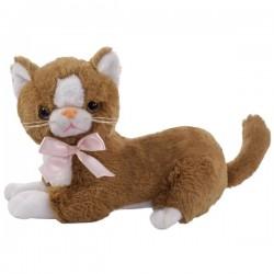 Brązowy Pluszowy kot Flico z kokardą Beppe