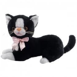 Czarny Pluszowy kot Flico z kokardą Beppe