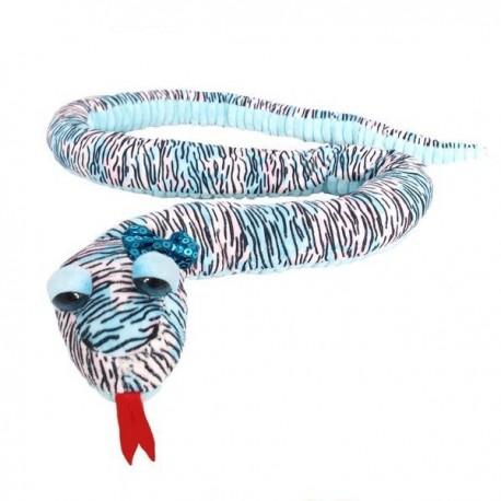 Pluszowy Wąż niebiesko-fioletowy 145cm Beppe