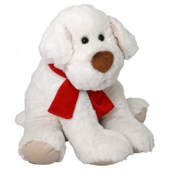 Pluszowy pies Ricco z czerwoną kokardą Beppe