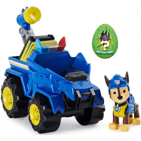 Psi Patrol Dino Rescue Chase figurka + pojazd radiowóz Spin Master