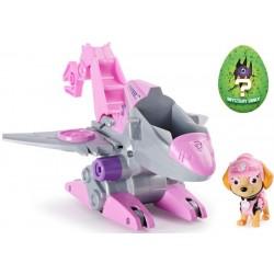Psi Patrol Dino Rescue Skye figurka + pojazd odrzutowiec Spin Master