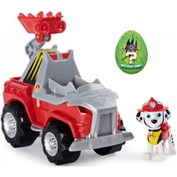 Psi Patrol Dino Rescue Marshall figurka + pojazd wóz strażacki Spin Master
