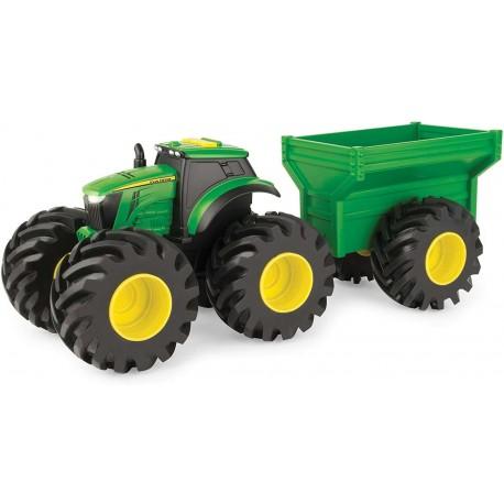 Traktor John Deere z przyczepą światło i dźwięk TOMY