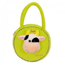 Torebka dla dziewczynki Krówka Funny zielona Beppe