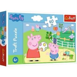 Puzzle Świnka Peppa Zabawy z przyjaciółmi Trefl