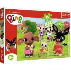 Puzzle Maxi Bing z przyjaciółmi Trefl