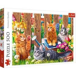 Puzzle Kotki w ogrodzie 500 Trefl