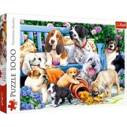 Puzzle Psy w ogrodzie 1000 Trefl