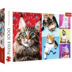 Puzzle Koty 1000 Wesołe koty Trefl