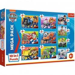 Puzzle 10w1 Ekipa Psiego Patrolu Trefl