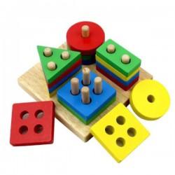 Sorter drewniany 4 figury geometryczne Bączek