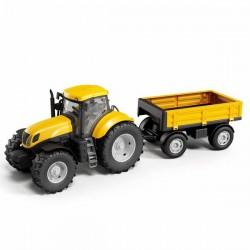 Zabawka Traktor z przyczepą żółty Adriatic