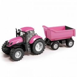 Zabawka Traktor z wywrotką różowy Adriatic
