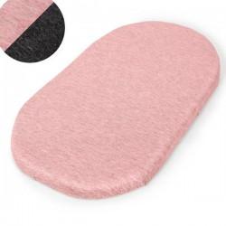 Prześcieradło do gondoli 2 szt. Dark grey + Pink Ceba