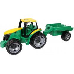 Traktor z przyczepą zielony GIGA TRUCKS LENA