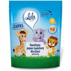 Nawilżany papier toaletowy dla dzieci zapas LULA