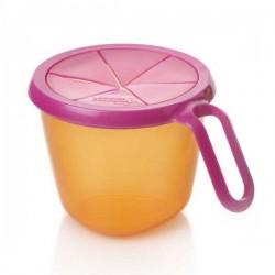Pojemnik na przekąski 12m+ - różowo-pomarańczowe