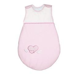Śpiworek dla dziecka Serduszka Biało-różowe