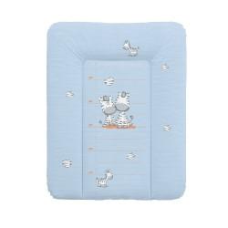 Ceba tapicerka przewijak 70x50 - Zebra Niebieska