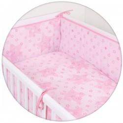 Pościel do łóżeczka 3-el. Gwiazdki Różowe