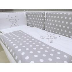 Pościel do łóżeczka 3-el. Koty Szare