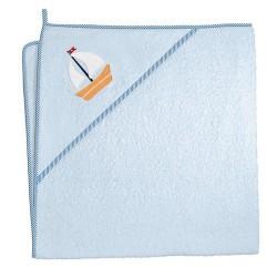 Ręcznik z kapturkiem MARYNARSKI NIEBIESKI