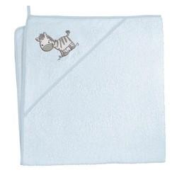 Ręcznik kąpielowy 100x100 Zebra Niebieska
