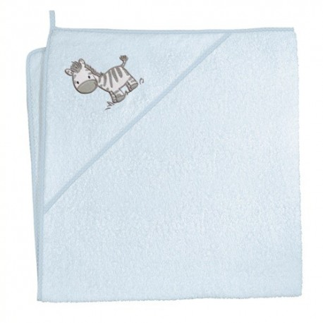 Ręcznik z kapturkiem Zebra Niebieska Ceba