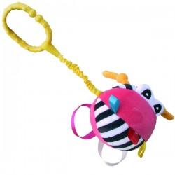 Zabawka dla niemowląt Piłeczka z grzechotką różowa Mom's Care