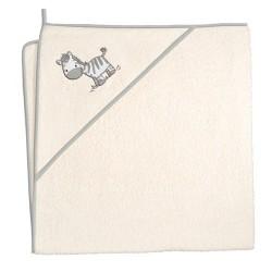 Ręcznik z kapturkiem ZEBRA BEŻOWA Ceba