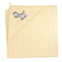 Ręcznik kąpielowy 100x100 Zebra Żółta