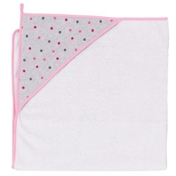 Ręcznik kąpielowy 100x100 Kropki Szare