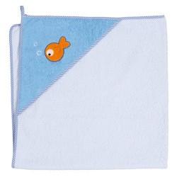 Ręcznik kąpielowy 100x100 Rybki Niebieskie