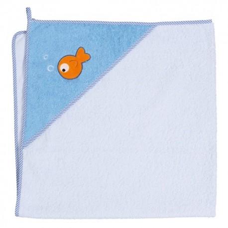 Ręcznik z kapturkiem RYBKI NIEBIESKIE Ceba