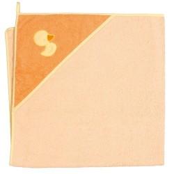 Ręcznik kąpielowy 100x100 Kaczuszka Pomarańczowa