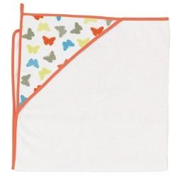 Ręcznik kąpielowy 100x100 Motylki Białe